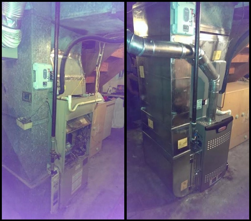 Before & After Lennox HVAC Replacement